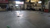 Thi công xoa tăng cứng mặt sàn tại nhà máy dệt Nam Định
